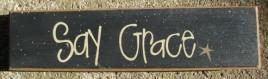 82155G - Say Grace Wood Block