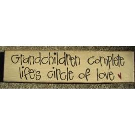 82161G - Grandchildren Complete life's circle of love wood block