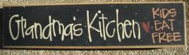 82161K - Grandma's Kitchen kids eat free wood block