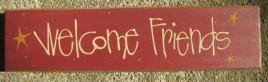 82216W - Welcome Friends wood block