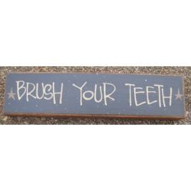 Primitive Wood Block 82255BT  -brush Your Teeth