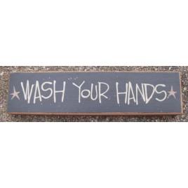 Primitive Wood Block 82255W - Wash your Hands