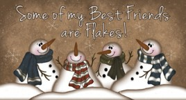 873SBF- Snowman Best Friends Wood Block