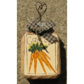 879C - carrots wood jar