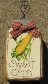879SC - Sweet Corn  mini wood mason jar