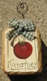879T - Whole Tomatoes Mini Wood mason jar