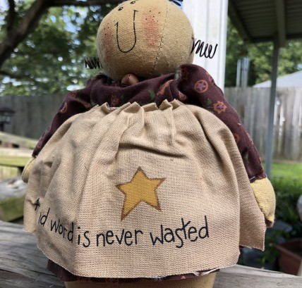 8D4550 A kind word is Never Wasted Doll