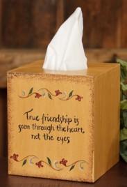 Primitive Tissue Box Cover Paper Mache' 8TB306-True Friendship