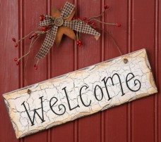 Primitive Wood Sign 8W1084-Welcome