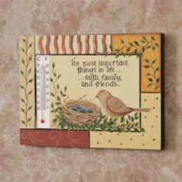 8W1254-Bird Nest The Most Important Things in Life - Faith Family and Friends