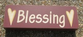 8W1566B - Blessings Wood Block