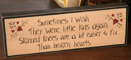 8W0024 - Sometimes I wish they were little kids again wood block