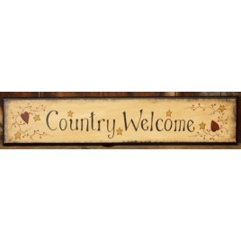 8W1216 - Country Welcome wood sign