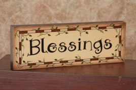 8W1225 - Blessings wood block