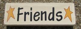 8W1566F - Friends wood block