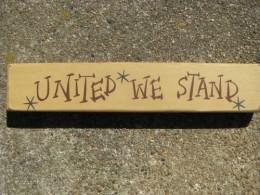 M9001UWS - United We Stand wood block