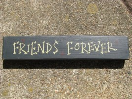 M9002FF- Friends Forever  Wood block