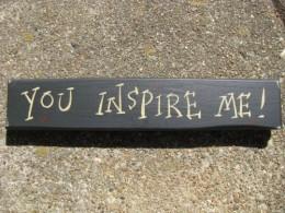 M9006YIM - You Inspire Me wood block