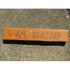 M9009IAB - I Am Blessed Wood Block