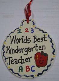 Teacher Gifts 9015 All Star School Kindergarten Ornament Wood