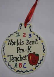 Teacher Gifts 9017PK Worlds Best Pre-K Teacher Ornament