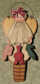 Cajun Cooking Angel  903C Country Wood Hangs by Wire