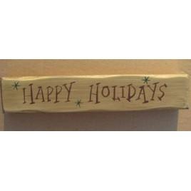 9043HH-Happy Holidays wood block