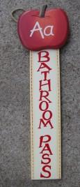 92447BP- Bathroom Wood Hall Pass