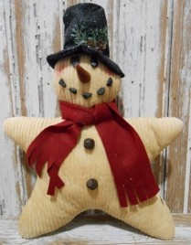 Christmas Decor Pillow 9602CSP - Chenille Star Snowman
