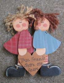 967TF True Friends share one Heart Wood