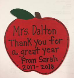 Teacher Gifts A9503  (teachers name) Thank you for a great year From (child's name) and (current) year