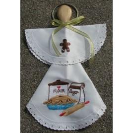 Angel Wood Spoon Kitchen Cloth