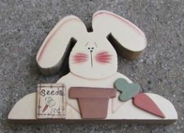 B2110 - Rabbit 10 cents seeds wood