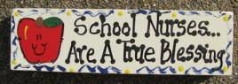 Teacher Gifts B5040 Wood Block School Nurses Are a True Blessing