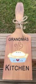 BP203 Butter Paddle Grandma's Kitchen Wood Paddle