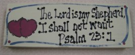 BP4010- The Lord is My Shepherd, I shall not want Psalm 23:1