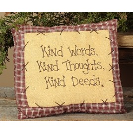 E1369 Kind words,kind thoughts,kind deeds pillow