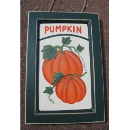 F309 - Wood Pumpkin Sign