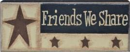 GJHA0552B - Friends We Share Canvas Wood Block