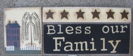 GJHA0555B-Bless our Family Wood Block