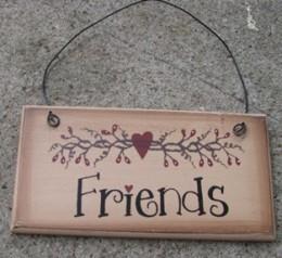 GM3033B - Friends Wood Sign