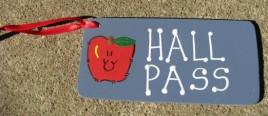Teacher Gifts  5200 - Blue Hall Pass
