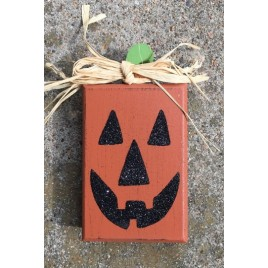 H62231 - Wood Pumpkin Block