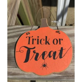 GJHF7063TT - Trick or Treat Wood Pumpkin