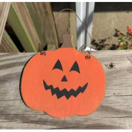 GJHF7063 - Face Wood Pumpkin