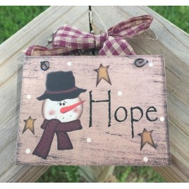 5780H -   Hope Snowman Sign