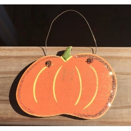 Fall Decor G33362 Fat Pumpkin Glittery Ornament