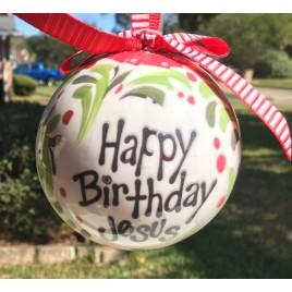Christmas Ornament 9544 Happy Birthday Jesus Ball