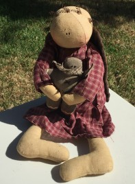 Cloth Angel Doll with Gingerbread