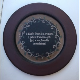 32486 - Friend and Vine Wood Plate